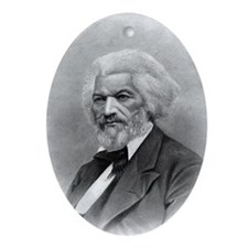 Frederick Douglass by Augustus Robin Oval Ornament