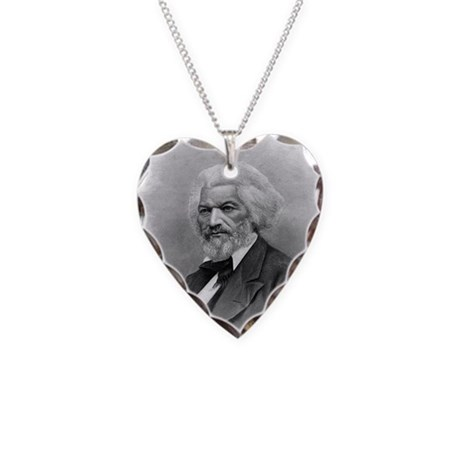 Frederick Douglass by Augustu Necklace Heart Charm