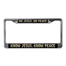 know Jesus! License Plate Frame