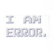 error Aluminum License Plate