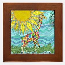 African Rainbow Framed Tile