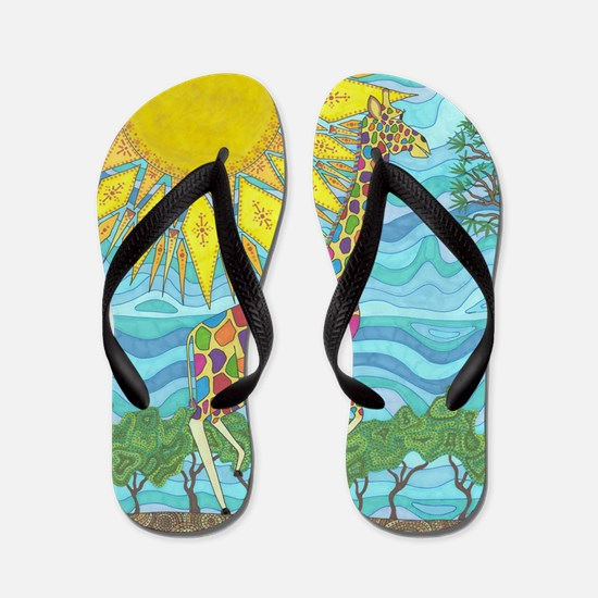African Rainbow Flip Flops