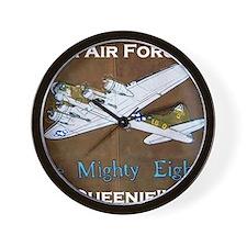 Queenie - 8th AF B-17 Wall Clock