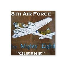 "Queenie - 8th AF B-17 Square Sticker 3"" x 3"""