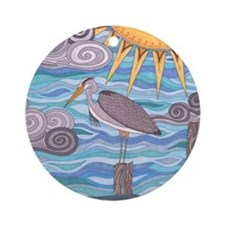 Herons Watch Round Ornament
