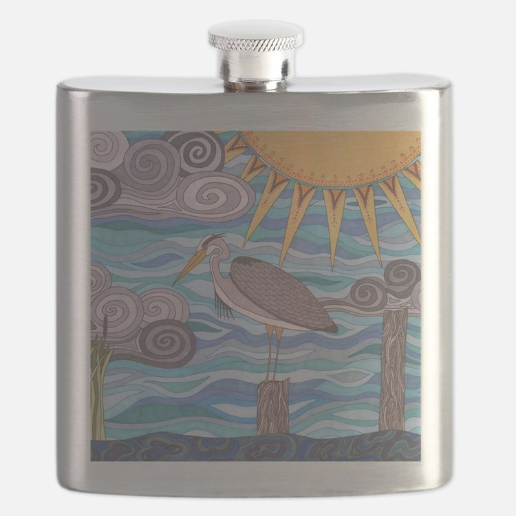 Herons Watch Flask