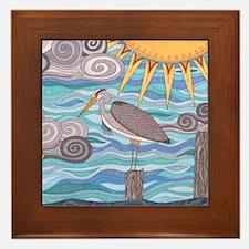 Herons Watch Framed Tile