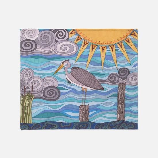 Herons Watch Throw Blanket