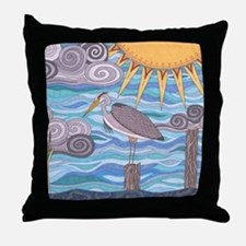 Herons Watch Throw Pillow