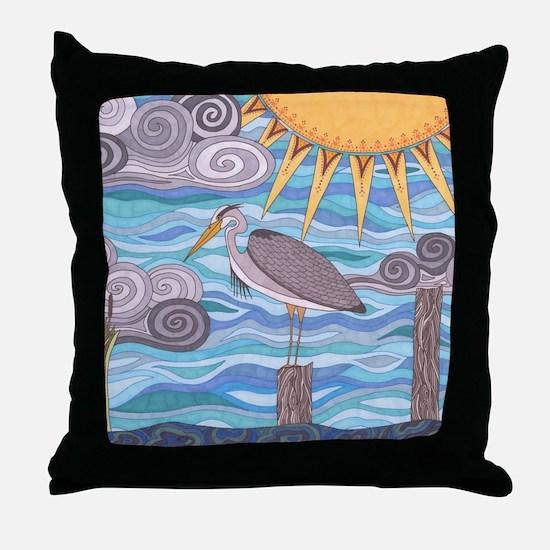 Herons Watch Throw Pillow