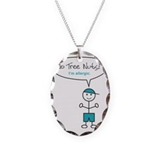 tree-nut-allergy-boy-clr Necklace Oval Charm