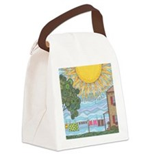 On The Line Canvas Lunch Bag