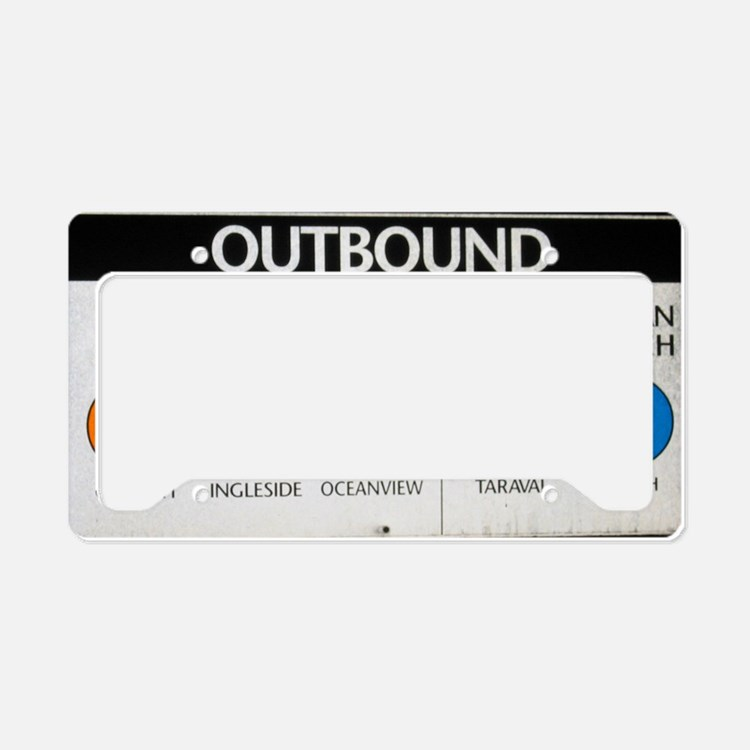 Outbound SF License Plate Holder