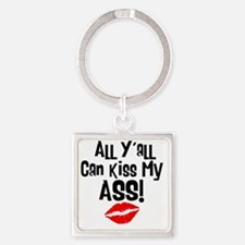 all_yall Square Keychain