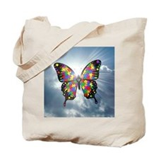autismbutterfly - sky 6inch Tote Bag