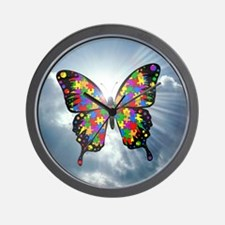 autismbutterfly - sky 6inch Wall Clock