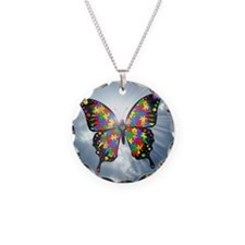 autismbutterfly - sky 6inch Necklace