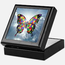 autismbutterfly - sky 6inch Keepsake Box