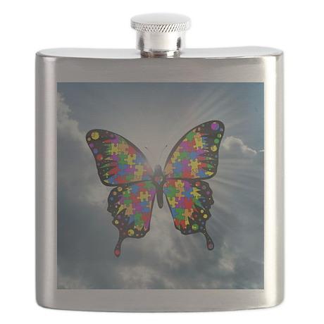 autismbutterfly - sky 6inch Flask