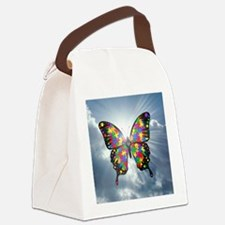 autismbutterfly - sky 6inch Canvas Lunch Bag