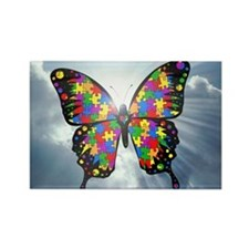 autismbutterfly - sky 6inch Rectangle Magnet