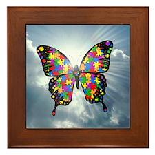 autismbutterfly - sky 6inch Framed Tile