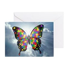 autismbutterfly - sky 6inch Greeting Card