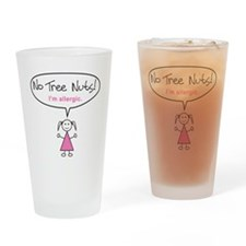tree-nut-allergy-girl-clr Drinking Glass