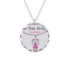 tree-nut-allergy-girl-clr Necklace Circle Charm