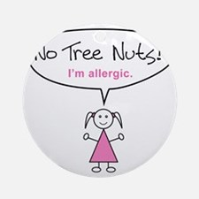tree-nut-allergy-girl-clr Round Ornament