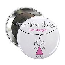 "tree-nut-allergy-girl-clr 2.25"" Button"