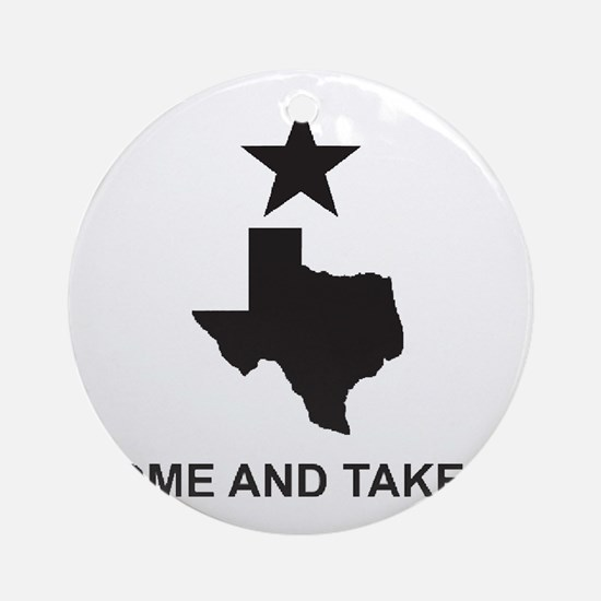 texas_large Round Ornament