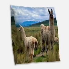 blanket15 Burlap Throw Pillow
