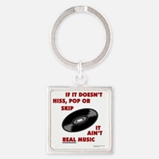real_music Square Keychain