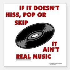 """real_music Square Car Magnet 3"""" x 3"""""""