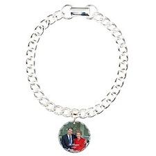 PresBtn_05 Charm Bracelet, One Charm