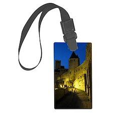 postcard carcassonne Evening Luggage Tag