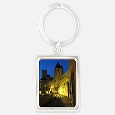 postcard carcassonne Evening Portrait Keychain