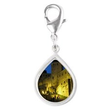 postcard carcassonne Evenin Silver Teardrop Charm