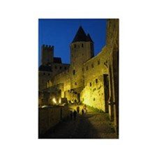 postcard carcassonne Evening Rectangle Magnet