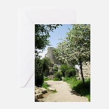 postcard peyrepertuse Greeting Card