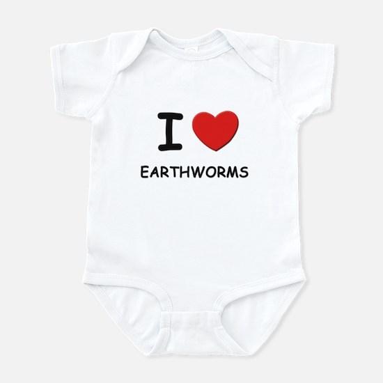 I love earthworms Infant Bodysuit