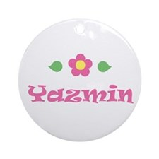 "Pink Daisy - ""Yazmin"" Ornament (Round)"