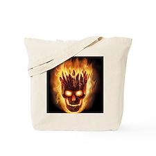 skull bonies head explodes big Tote Bag