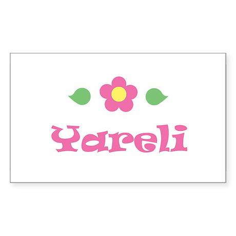 "Pink Daisy - ""Yareli"" Rectangle Sticker"