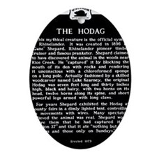 Hodag Historical Marker Oval Ornament