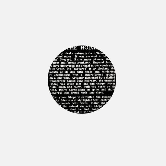 Hodag Historical Marker Mini Button