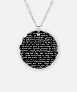 Hodag Historical Marker Necklace
