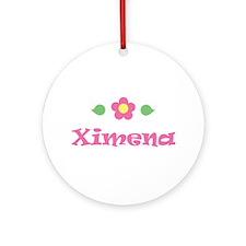 "Pink Daisy - ""Ximena"" Ornament (Round)"