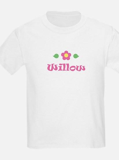"""Pink Daisy - """"Willow"""" Kids T-Shirt"""